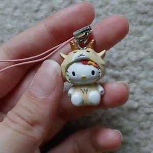♑Hello Kitty Keychain for Phone Capricorn Sea-goat